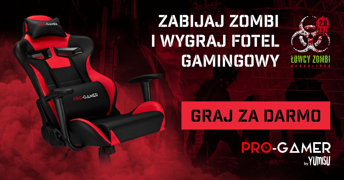 Wygraj fotel gamingowy grając w Łowcy Zombi